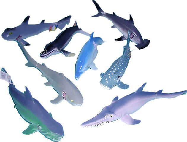 Zvířátko mořské 23-31cm ryba různé druhy guma