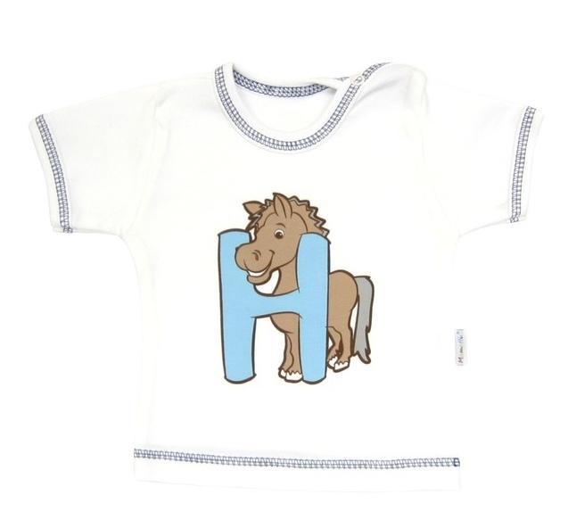 Tričko/košilka krátký rukáv Mamatti - Zvířátka - 68 (4-6m)