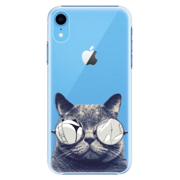 Plastové pouzdro iSaprio - Crazy Cat 01 - iPhone XR