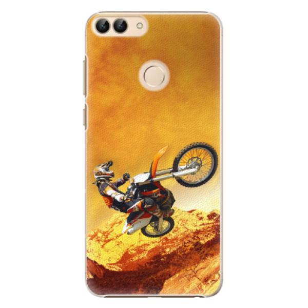 Plastové pouzdro iSaprio - Motocross - Huawei P Smart