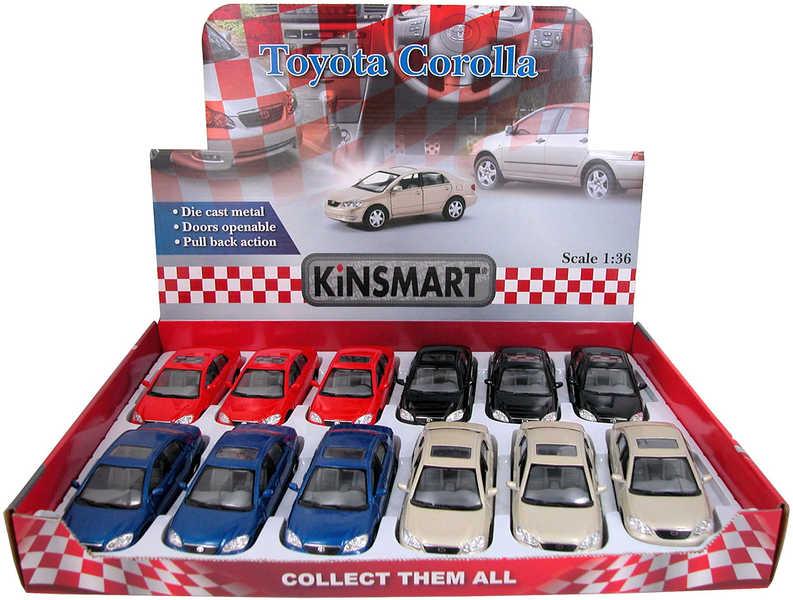 KINSMART Auto model 1:36 TOYOTA COROLLA kov PB 13cm 4 barvy