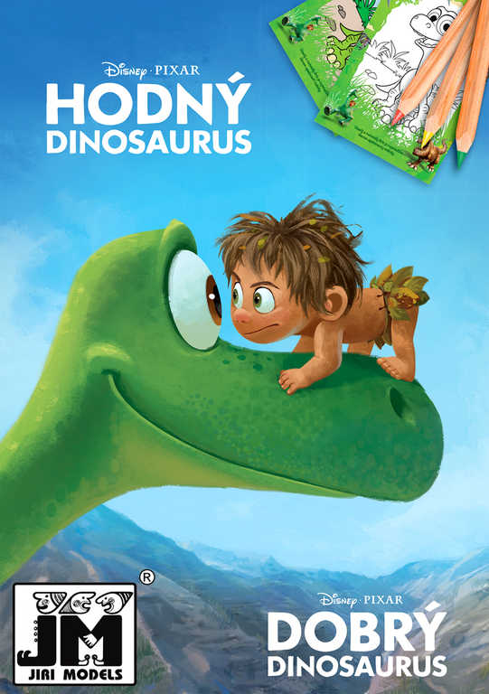 JIRI MODELS Omalovánky A5+ Hodný dinosaurus Disney