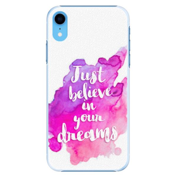 Plastové pouzdro iSaprio - Believe - iPhone XR