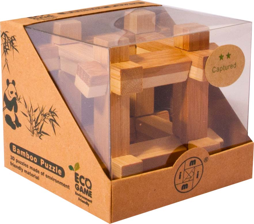Bambusový - hlavolam - Krychle