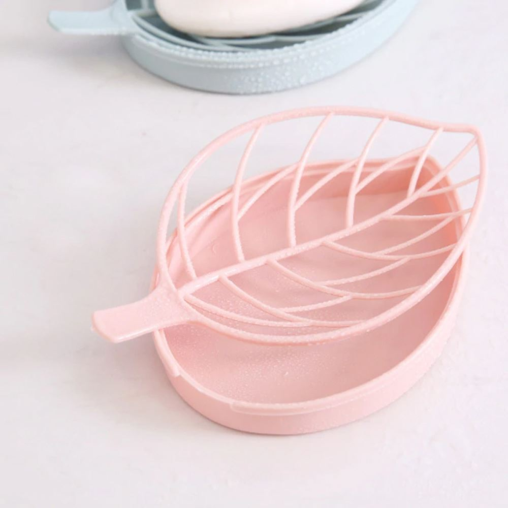 Odkapávač ve tvaru listu - světle růžový