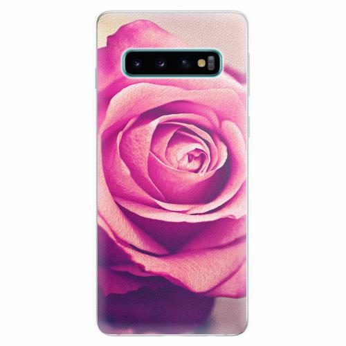 Silikonové pouzdro iSaprio - Pink Rose - Samsung Galaxy S10