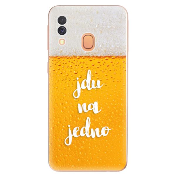 Odolné silikonové pouzdro iSaprio - Jdu na jedno - Samsung Galaxy A40