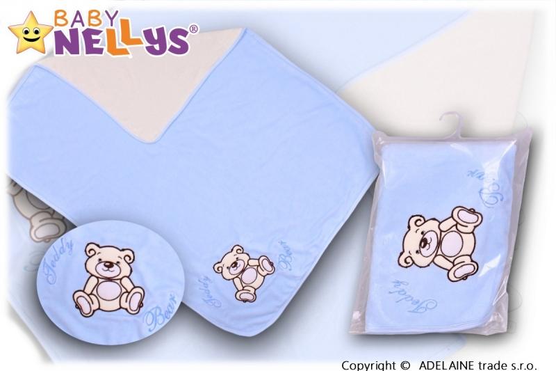 baby-nellys-deka-decka-frote-velur-medvidek-teddy-bear-sv-modra