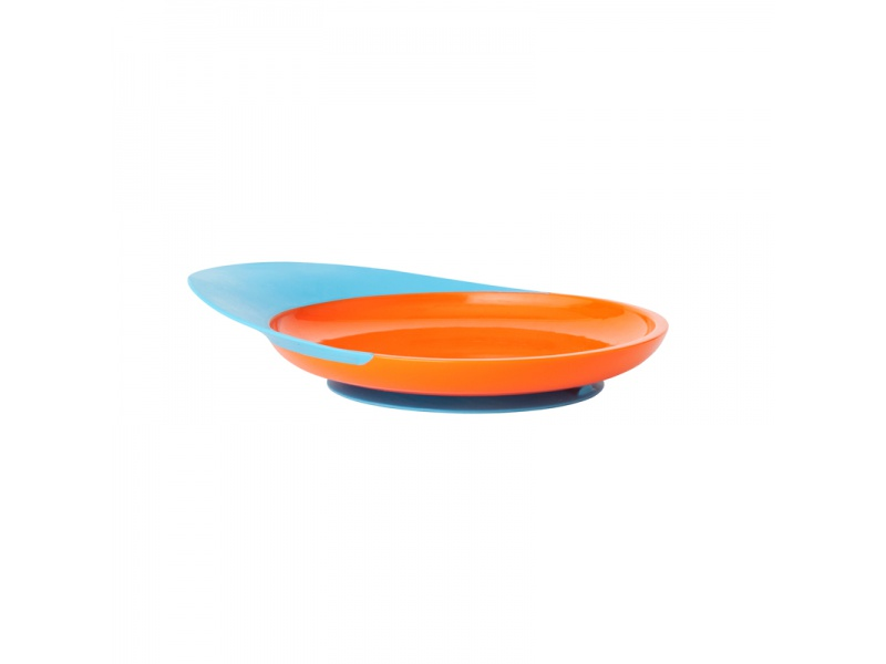 Boon - CATCH PLATE - Talíř s přísavkou modro-oranžový
