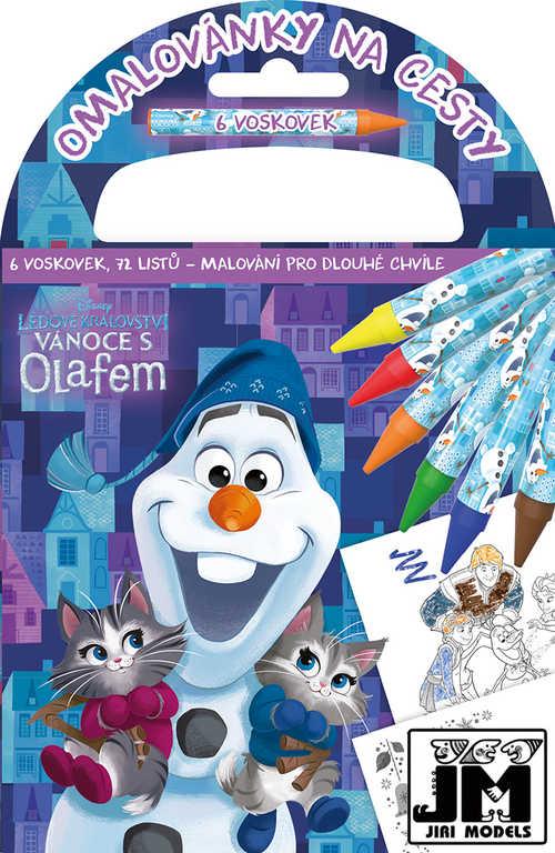 JIRI MODELS Omalovánky na cesty Frozen set s voskovkami a držátkem