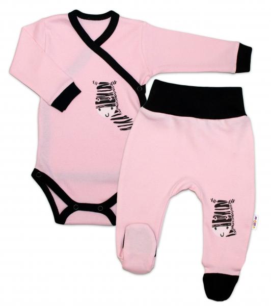 baby-nellys-2-dilna-sada-body-dl-rukav-polodupacky-ruzova-zebra-vel-62-62-2-3m