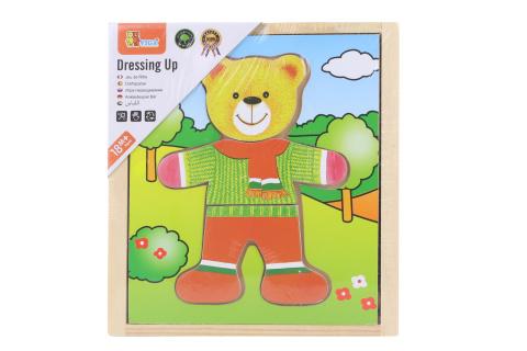 Dřevěné oblékání - medvídek