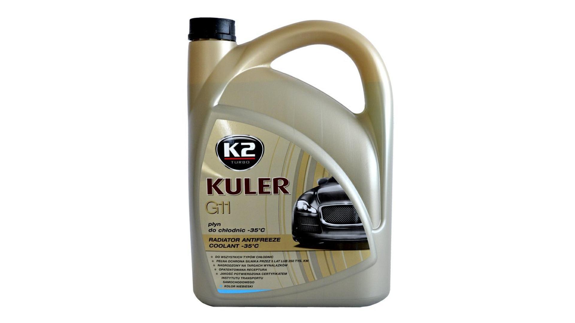 K2 KULER G11 MODRÁ 5l - nemrznoucí kapalina do chladiče do -35 °C