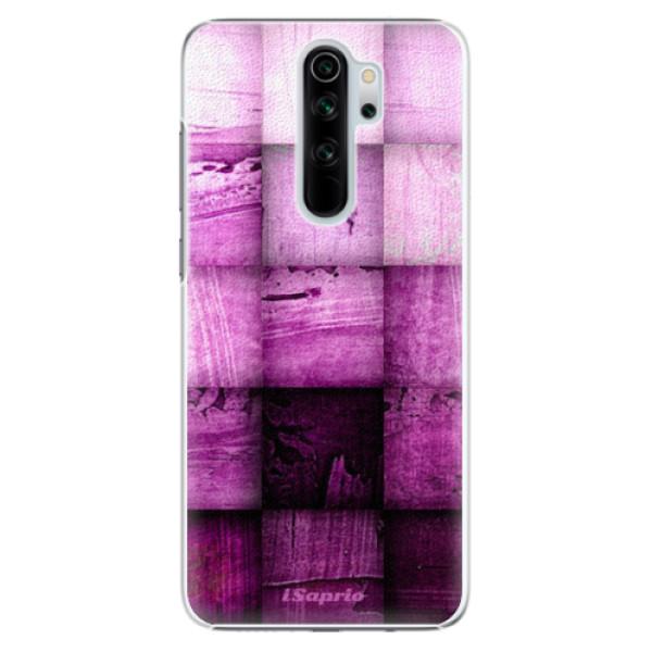 Plastové pouzdro iSaprio - Purple Squares - Xiaomi Redmi Note 8 Pro