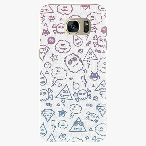Plastový kryt iSaprio - Funny Clouds - Samsung Galaxy S7 Edge
