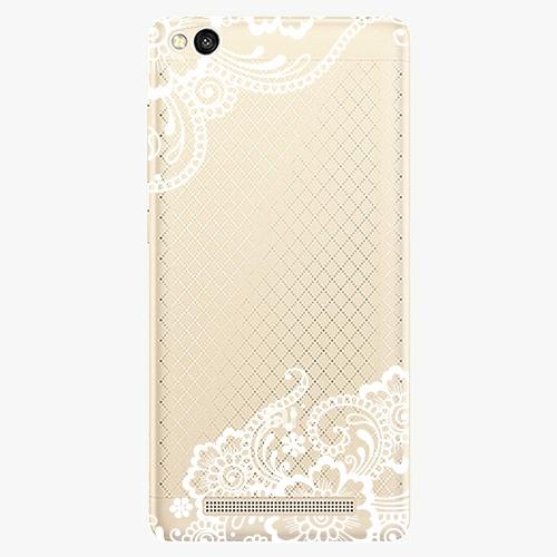 Plastový kryt iSaprio - White Lace 02 - Xiaomi Redmi 3