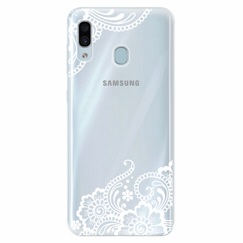 Silikonové pouzdro iSaprio - White Lace 02 - Samsung Galaxy A30