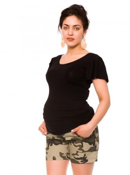 Be MaaMaa Těhotenské teplákový kraťasy Camo