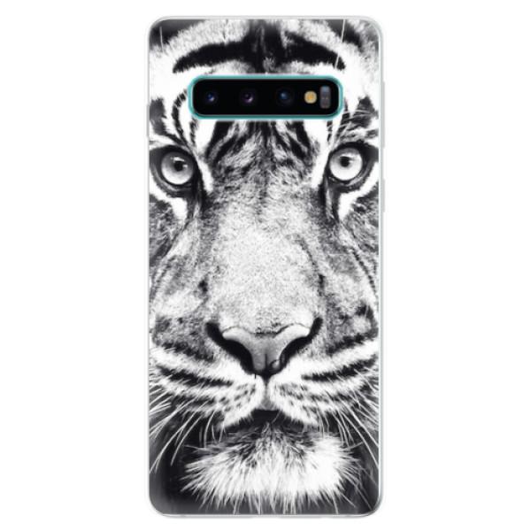 Odolné silikonové pouzdro iSaprio - Tiger Face - Samsung Galaxy S10