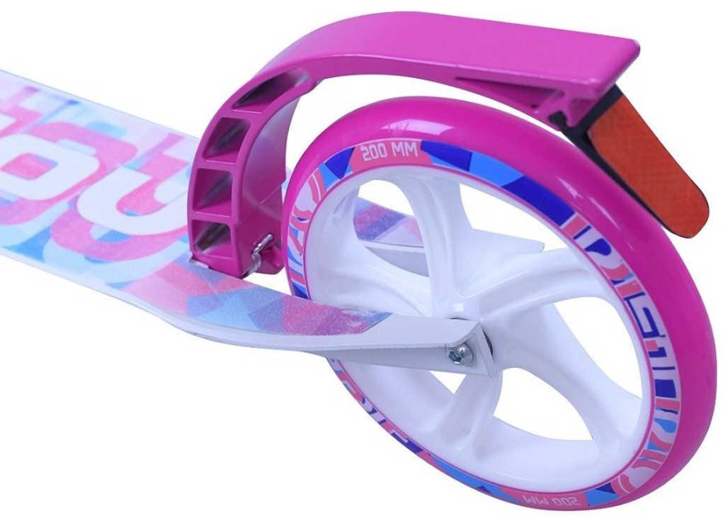 SULOVRETRO Skládací alu koloběžka bílo-růžová 200mm pro děti i dospělé