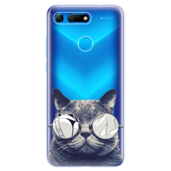 Odolné silikonové pouzdro iSaprio - Crazy Cat 01 - Huawei Honor View 20