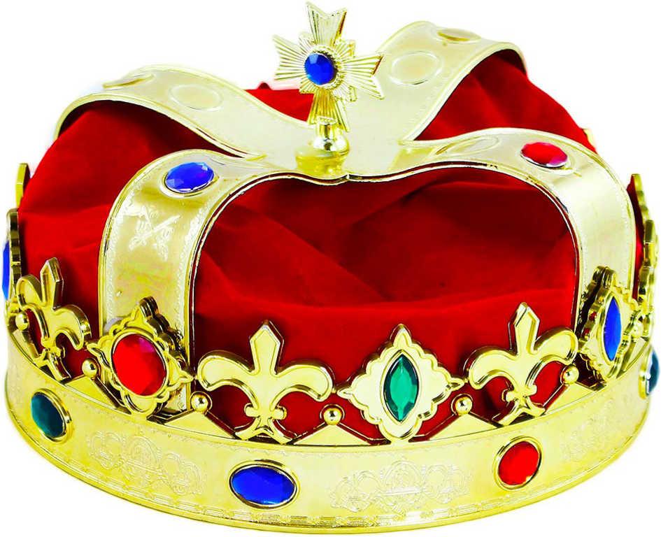 KARNEVAL Koruna královská zlatá plastová KARNEVALOVÝ DOPLNĚK