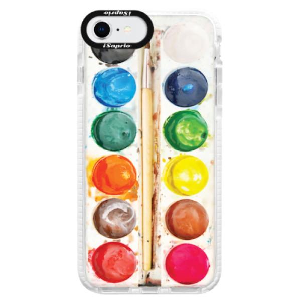Silikonové pouzdro Bumper iSaprio - Watercolors - iPhone SE 2020