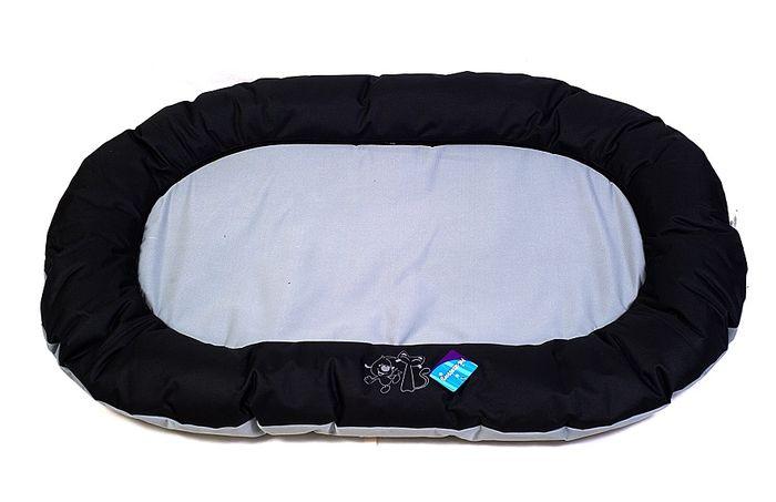 Černošedá psí matrace - 120x80 cm