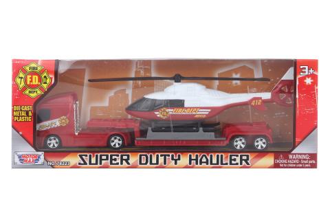 Kamion hasičský s vrtulníkem kov