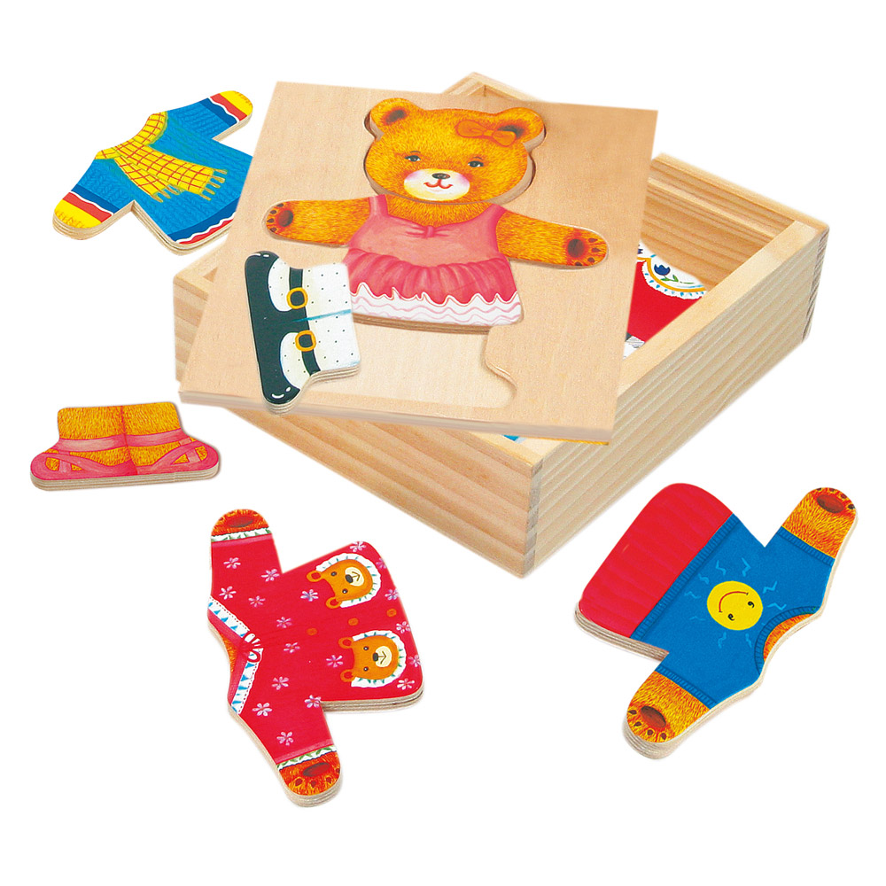 Puzzle - šatní skříň medvědice