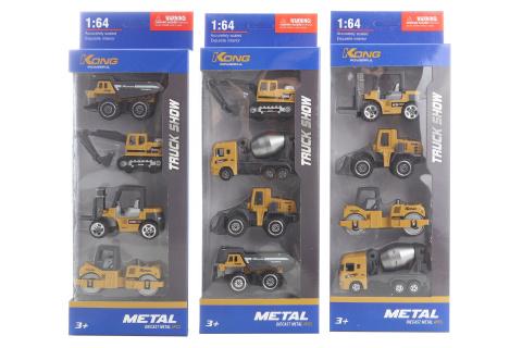 Sada stavebních kovových aut