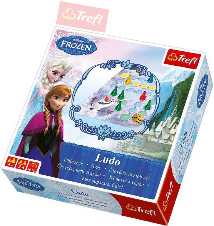 TREFL Hra Člověče nezlob se Frozen (Ledové Království) Ludo *SPOLEČENSKÉ HRY*