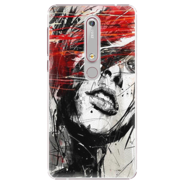 Plastové pouzdro iSaprio - Sketch Face - Nokia 6.1