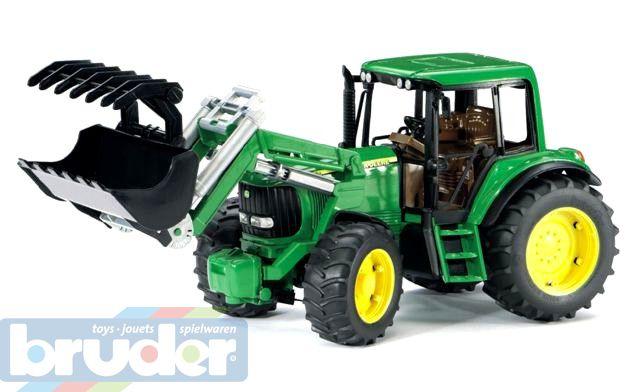 BRUDER 02052 (2052) Traktor John Deere 6920 s přední lžící