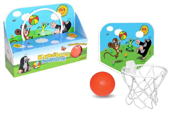 KRTEK Set košíková s míčem 33x25cm (Krteček)