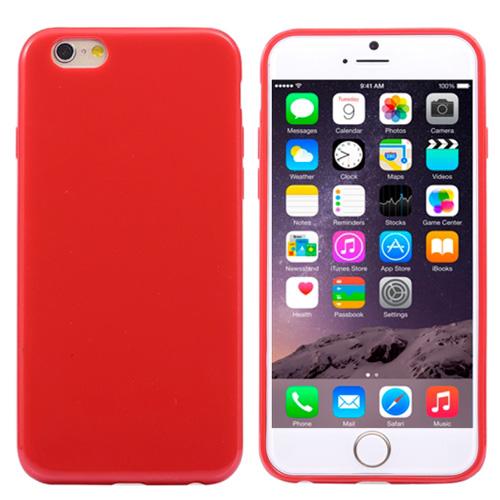 Pružný kryt iSaprio Jelly pro iPhone 6 Plus červený