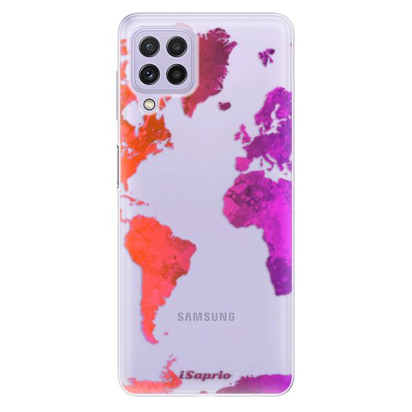 Odolné silikonové pouzdro iSaprio - Warm Map - Samsung Galaxy A22