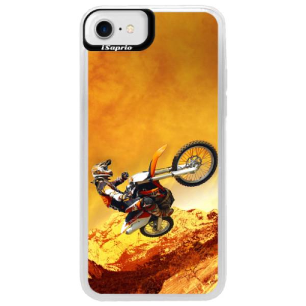 Neonové pouzdro Blue iSaprio - Motocross - iPhone 7