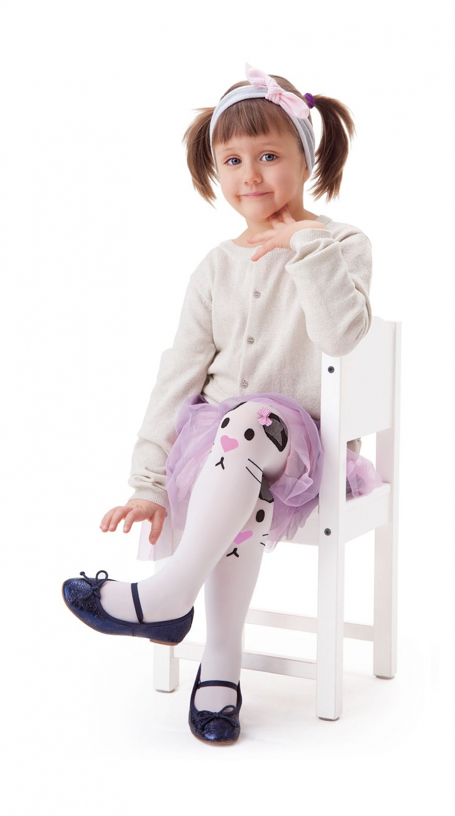 Dětské punčochy Knittex Noa Rabbit 40 den - Bílá/104-110