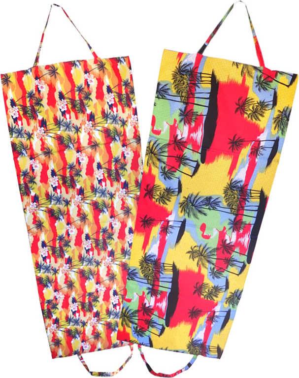 ACRA Lehátko plážové textilní skládací 145x60cm palmy 2 druhy