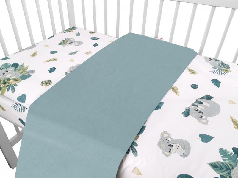 baby-nellys-2-dilne-bavlnene-povleceni-tropical-koala-zelena-bila-120x90