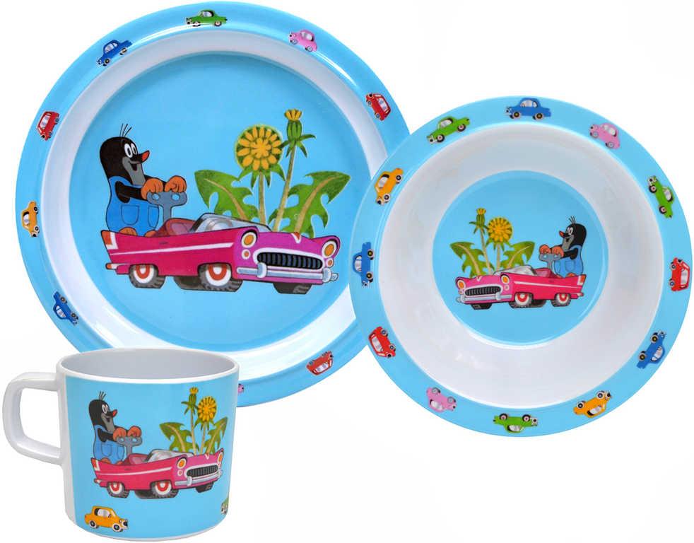 MORAVSKÁ ÚSTŘEDNA Dětské nádobí set 3ks Krtek (Krteček) Autíčko