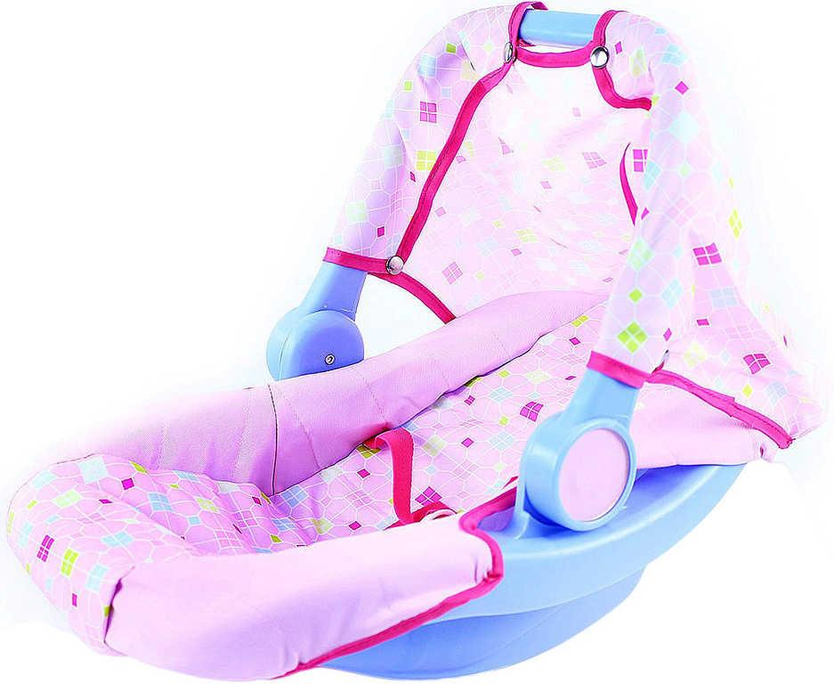 Nosítko pro panenku miminko do 43cm látkový potah upínací pásy