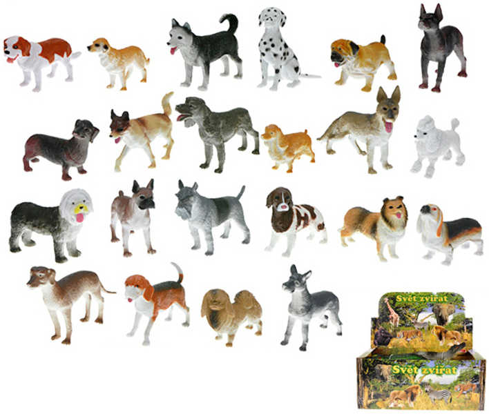 Pes 8-12 cm 22 druhů plastové zvířátko