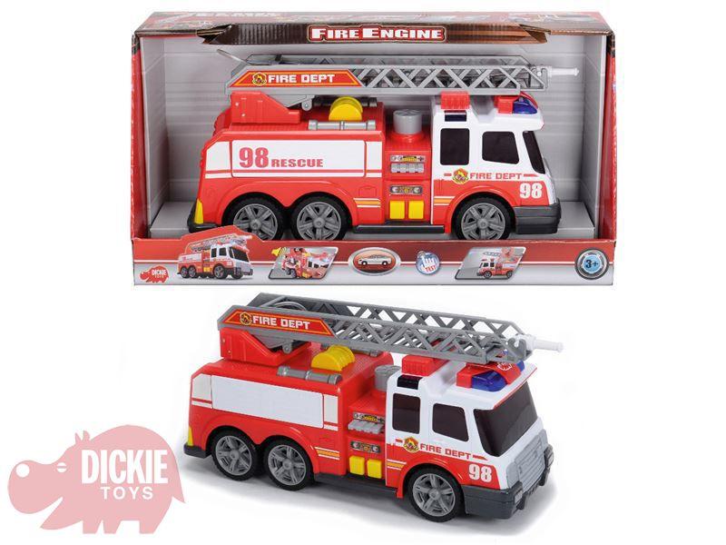 DICKIE Auto hasičské stříkající vodu 36 cm Světlo Zvuk PLAST