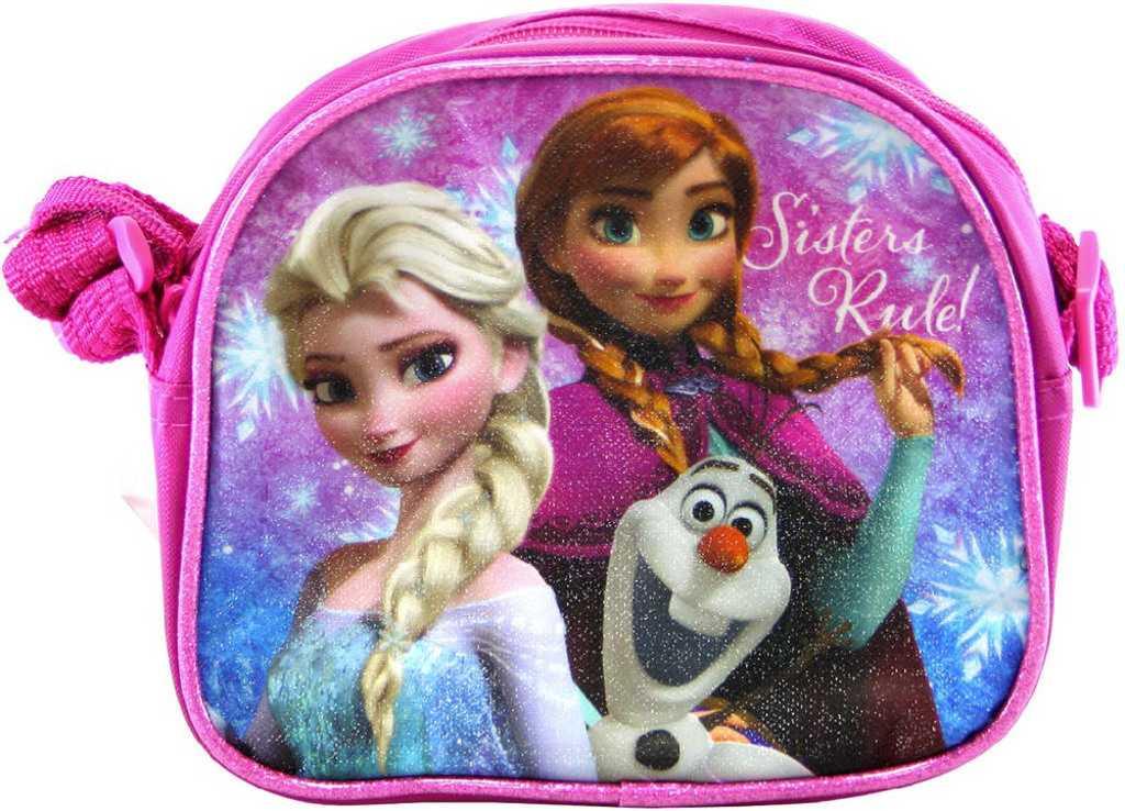 Taška Frozen (Ledové Království) vínová s popruhem přes rameno