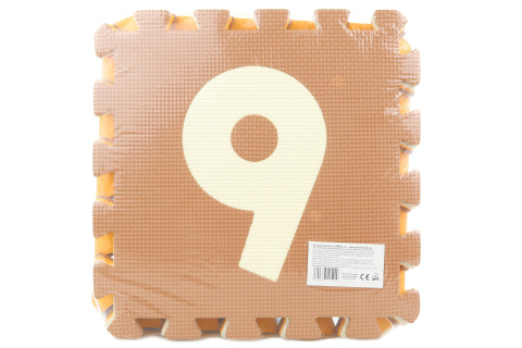 Pěnové puzzle 9 ks čísla