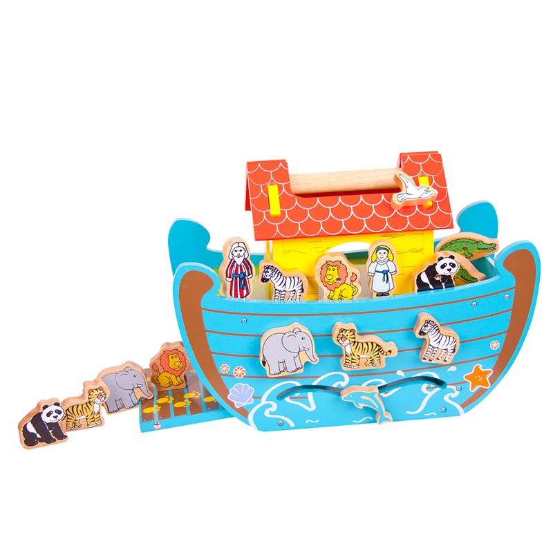 Bigjigs Toys Dřevěná Noemova archa