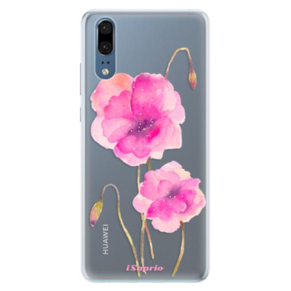Silikonové pouzdro iSaprio - Poppies 02 - Huawei P20
