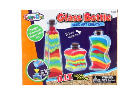 Výroba z písku skleněné lahvičky